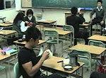 Japanische Studenten haben Spass