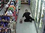 Besoffen im Supermarkt