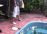 Krokodile im Swimmingpool