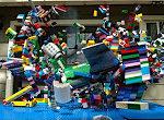 Lego Zerstörung in Slow Motion