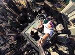 Ein schwindelerregendes Selfie